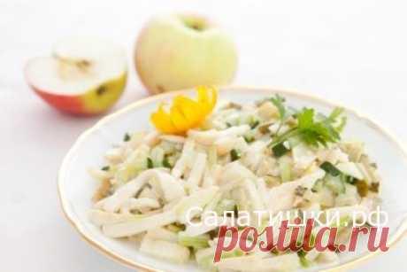 РЕЦЕПТ ПОСТНОГО САЛАТА ИЗ ЯБЛОК С СЕЛЬДЕРЕЕМ » Рецепты вкусных салатов