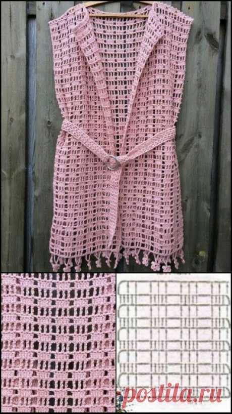 Схемы вязания для летних вариантов одежды