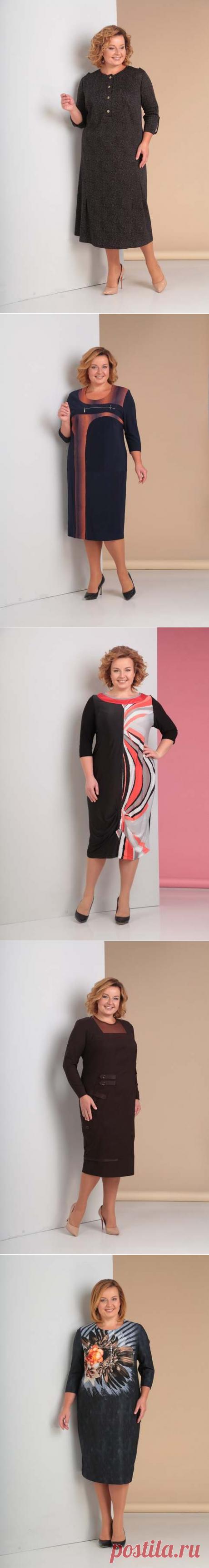 ff1edb6d4de Коллекция одежды для полных женщин белорусской компании Novella Sharm осень-зима  2018-19