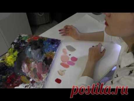 Про смешивание красок. Масляная живопись. Фания Сахарова - YouTube
