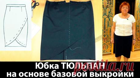 Выкройки юбок с запахом и драпировками