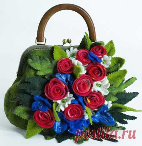 Новости ВК        валяная сумочка