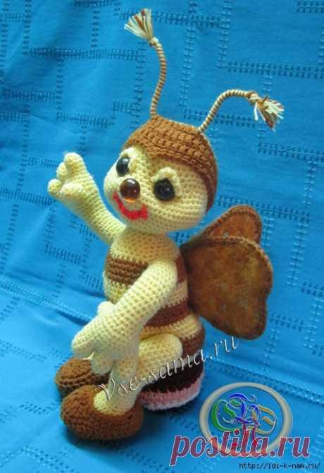 Вязаная пчёлка - Добрый Пчёл. • Сияние Жизни