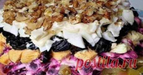 Салат «Графский»: самое лучшее блюдо из отварной свеклы! Шубу больше не готовим ...