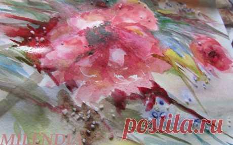 Акварель по-мокрому: 6 видео-уроков рисования цветочных композиций