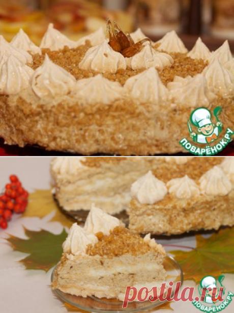 Торт-безе с кофейным кремом и грильяжем – кулинарный рецепт