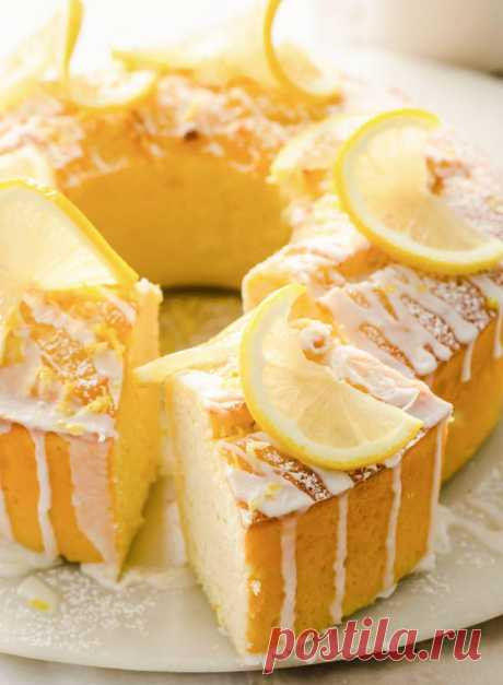 Кето лимонный торт фунт - без сахара лондонец