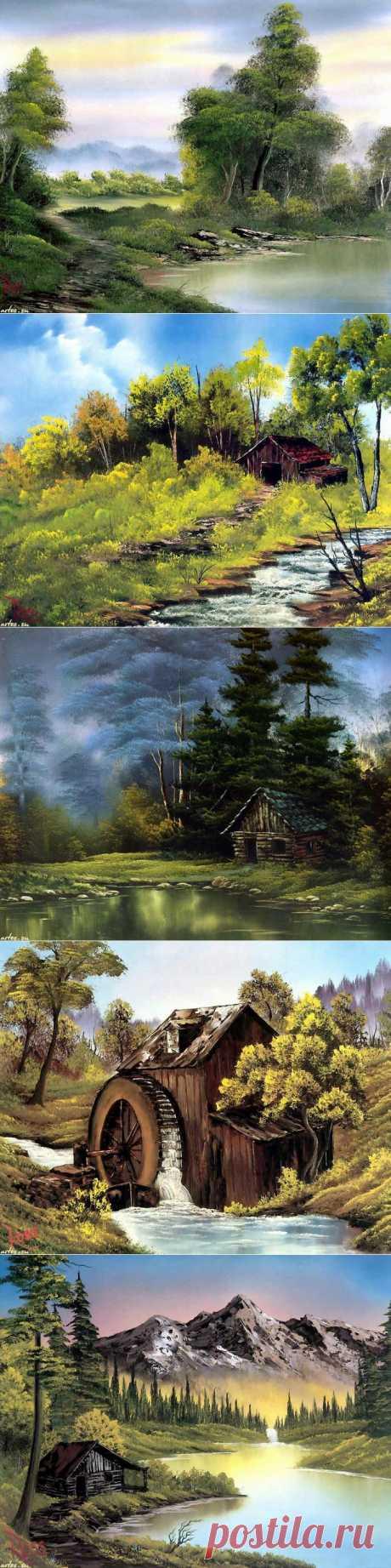 Природа от американского живописца Robert Norman Ross.