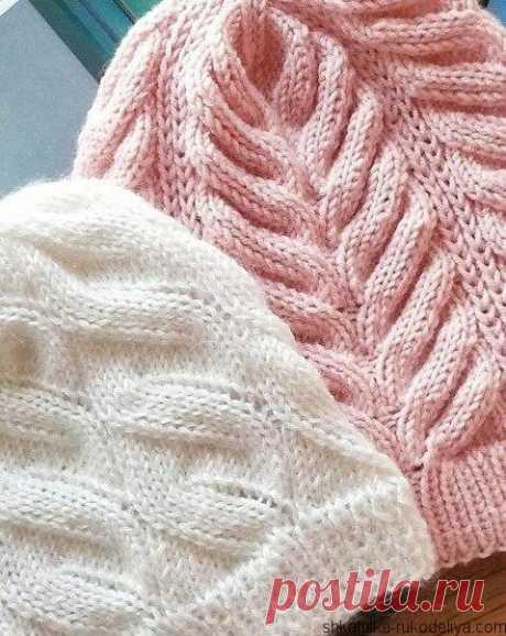Cap pattern false braid Cap pattern false braid. Knitting of a cap spokes scheme.
