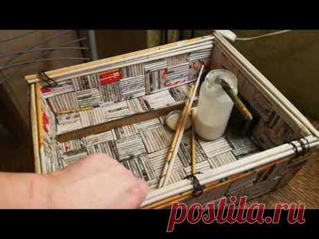 прочный плетеный ящик абсолютно без плетения