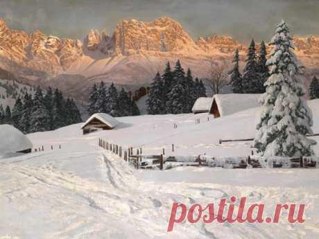 Alois Arnegger (1879 – 1963) Австрия - Альпийскиe пейзажи