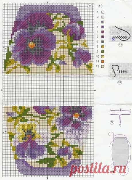 Схемы для вышивки: сумочки, косметички, игольницы / Схемы / Бусинка