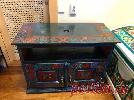 Тумба под раковину с росписью в восточном стиле – купить в интернет-магазине на Ярмарке Мастеров с доставкой - FJG53RU | Москва