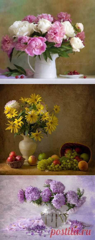 фото цветы в натюрморте: