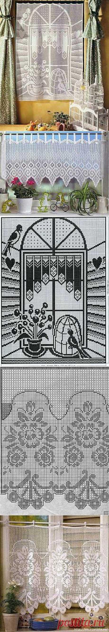 Поиск на Постиле: вязаные шторы