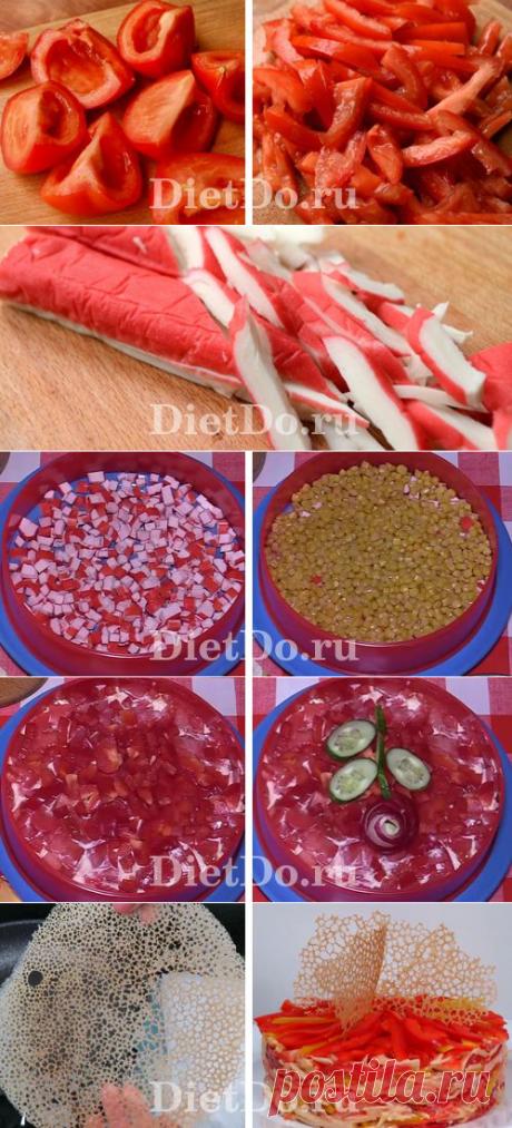 ТОП-10 рецептов: салат «Красное море» с крабовыми палочками и помидорами