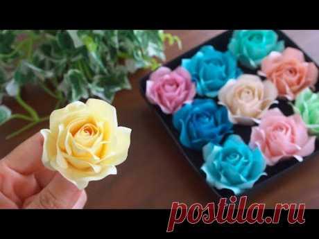 Как сделать бумажные розы - DIY How to Make Paper Roses