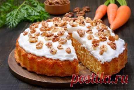 Правильный морковный пирог с нежным творожным кремом Особенно вкусный и полезный!Особенно вкусный и полезный!