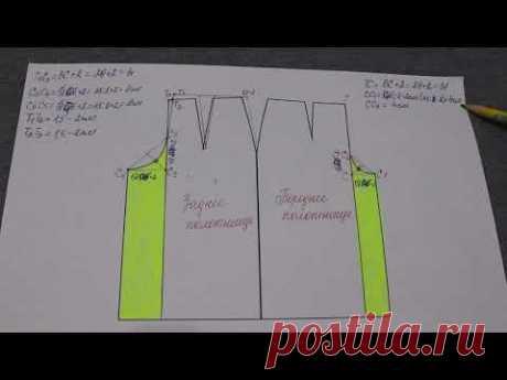Кюлоты или юбка-брюки. Как выкроить за несколько минут на основе базовой выкройки прямой юбки