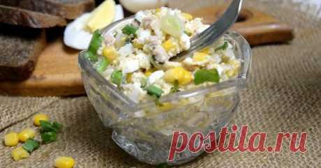 Праздничный салат из печени трески с яйцом
