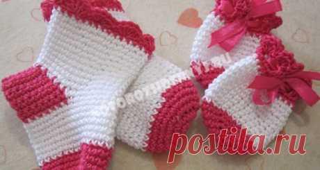 Children's socks a hook, a master class for beginners