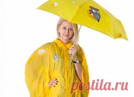 Плащ - дождевик своими руками От плохой погоды спасет плащ дождевик, своевременно положенный в сумочку. Сшить модный плащ можно за пять минут из обычного полиэтилена.