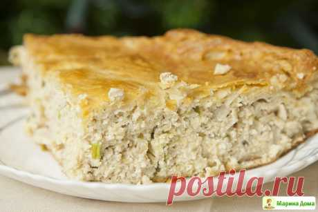 Пирог с индейкой и сыром » Вкусные рецепты у Марины дома
