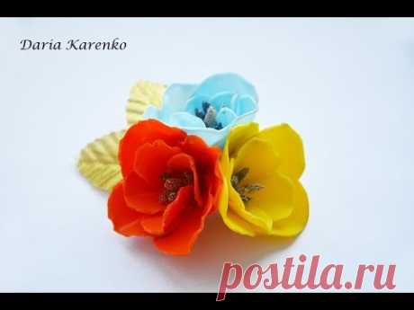 DIY FLOWERS FROM PLASTIC BOTTLES THE HANDS \\FLOWERS FROM PLASTIC BOTTLE