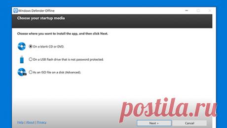 Защита компьютера с помощью автономного Microsoft Defender