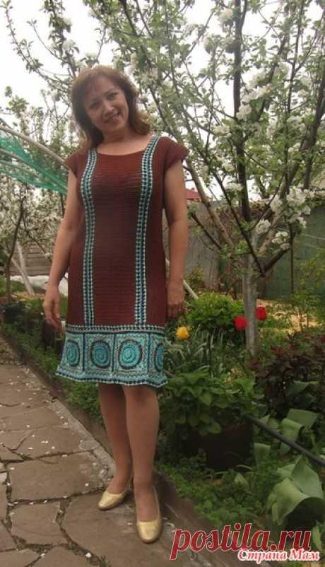 Платье крючком с орнаментом - Вязание - Страна Мам