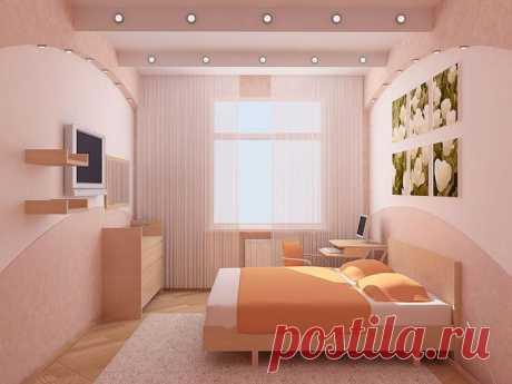 Дизайн маленькой спальни: ТОП-50 фото идей для интерьера спальни