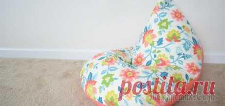 Пошейте кресло-подушку ребенку всего за 30 минут