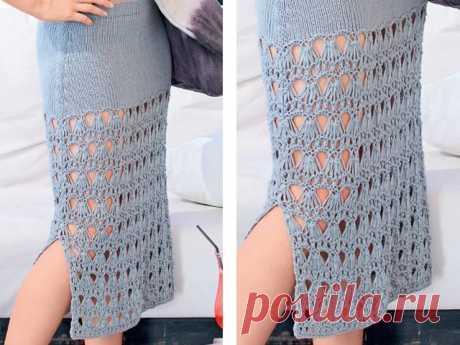Вязание юбки спицами - схему и описание для начинающих