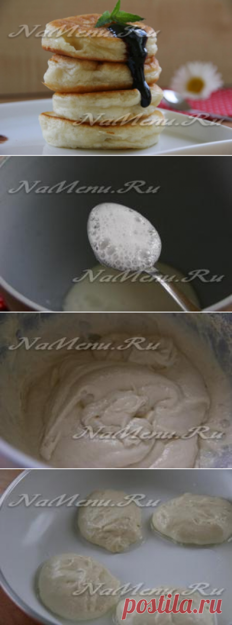 Los buñuelos sobre el kéfir sin huevos, pomposo: la receta de la foto