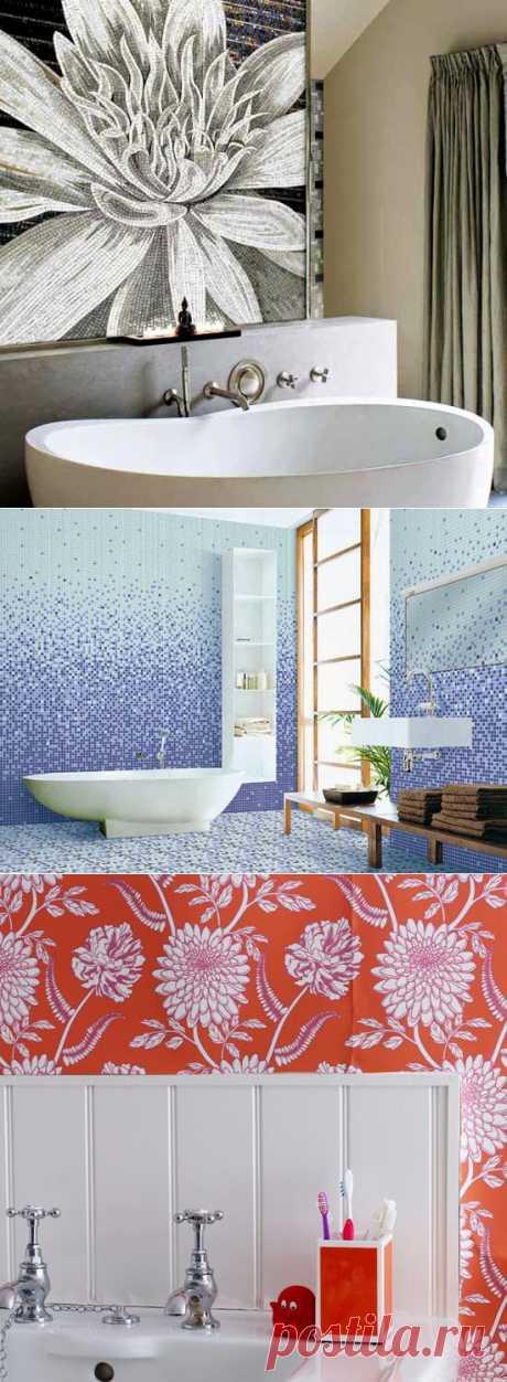 7 материалов для отделки ванной комнаты: от плитки до обоев ~ Sweet home