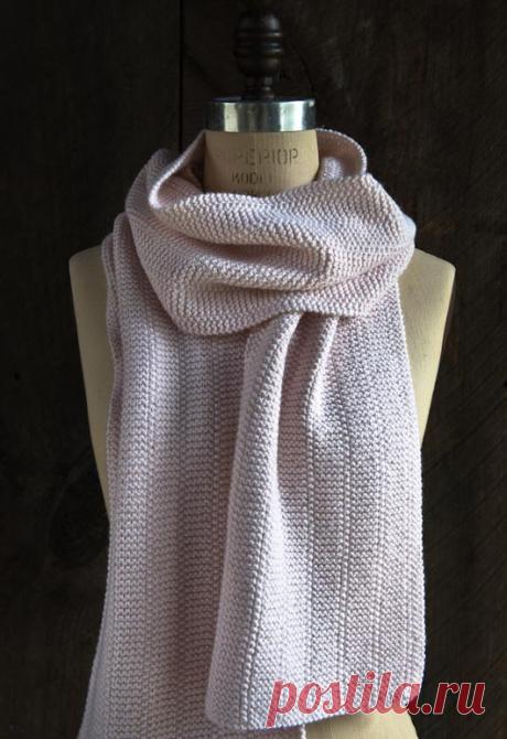 Простой шарф спицами | ДОМОСЕДКА