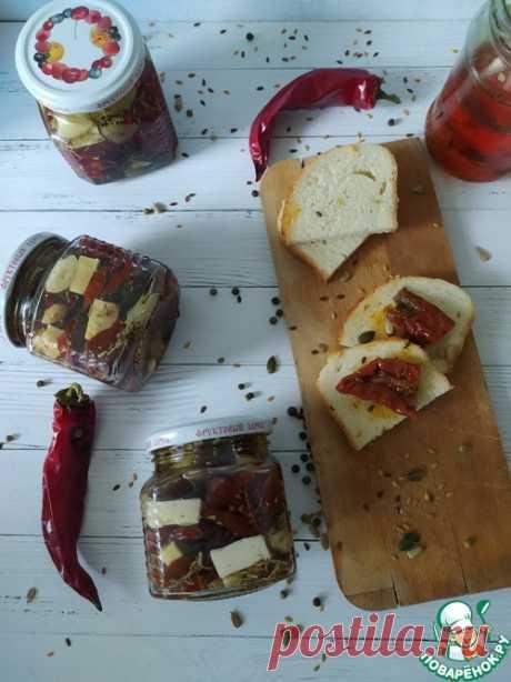 Вяленые томаты с брынзой – кулинарный рецепт