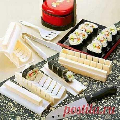 11 шт./компл. Новая форма «сделай сам» для изготовления суши, кухонный инструмент для приготовления суши и риса Инструменты для суши    АлиЭкспресс
