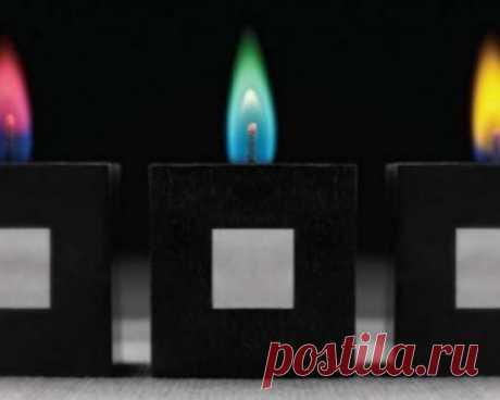 Необычное цветное пламя этих свечей добавит романтики любой ситуации