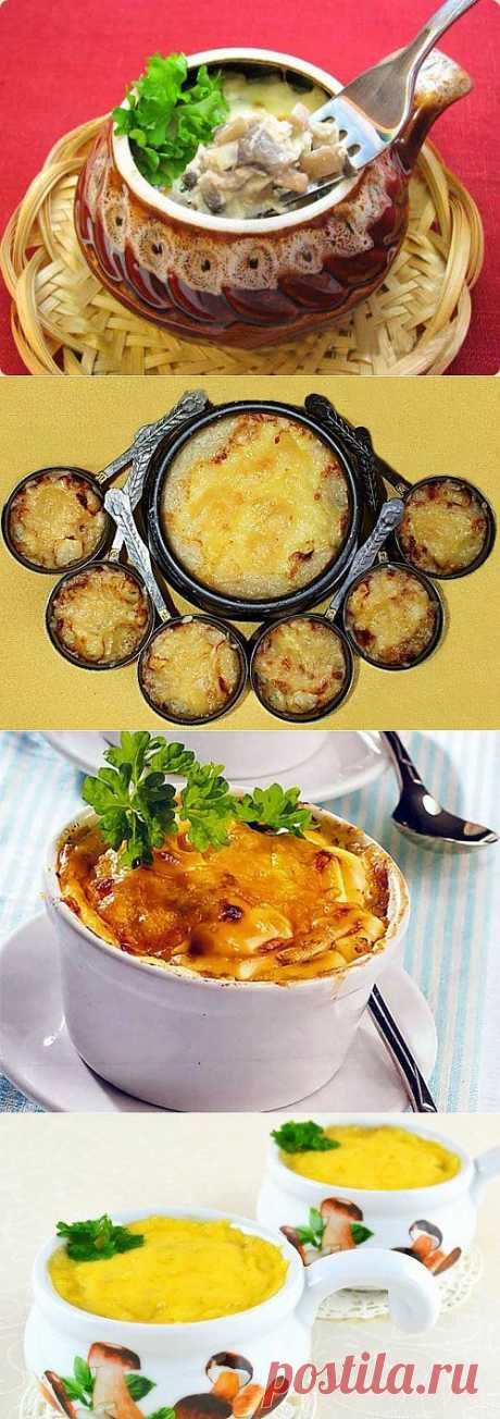 Julienne with chicken: 7 recipes \/ Simple recipes