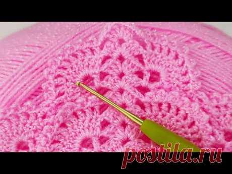 Как связать новичку простой шов треугольный платок схема вязания - простое вязание шали