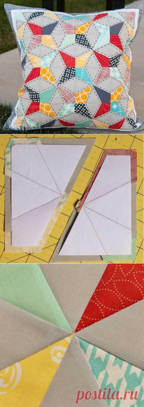 Лоскутный блок — калейдоскоп | Креатифф!