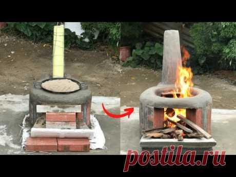 Бездымная дровяная печь.