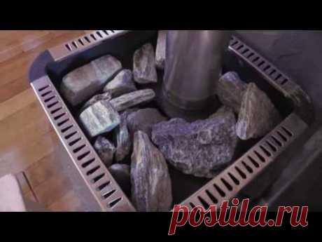 Укладка камней в печь для бани, сауны - YouTube