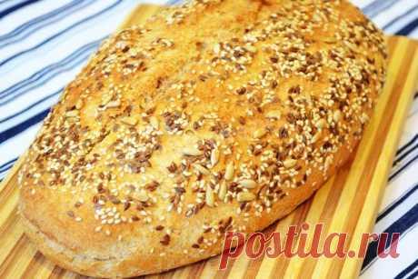 Хлеб с семечками рецепт с фото пошагово - 1000.menu