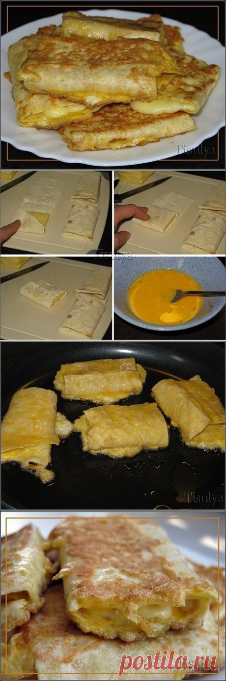 Сыр в лаваше - Завтрак на скорую руку