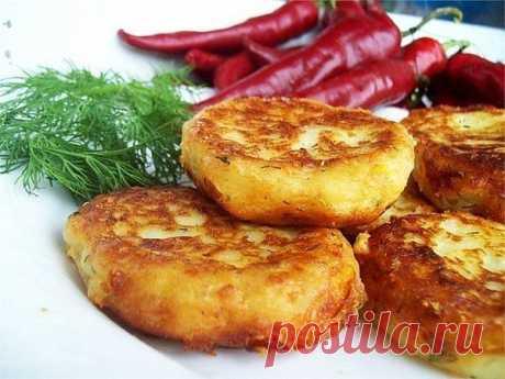 Картофельные котлеты с сыром и укропом.