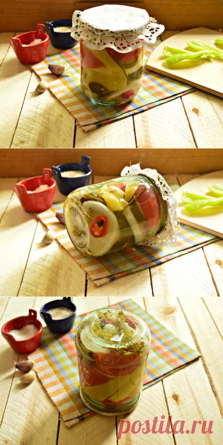 Маринованное овощное ассорти без стерилизации - как приготовить овощное ассорти на зиму, пошаговый рецепт с фото