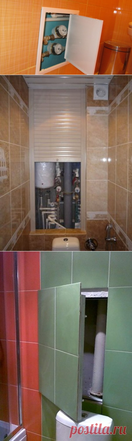 Как аккуратно спрятать трубы в туалете — три лучших способа