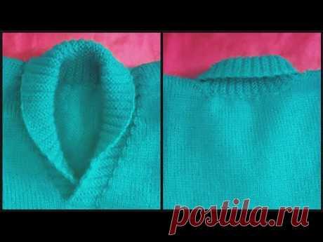 Collar neck design in knitting machine #1 (निटिंग मशीन में कॉलर वाले गले का डिजाइन #1)
